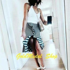 ZARA Asymmetric New Poplin Skirt